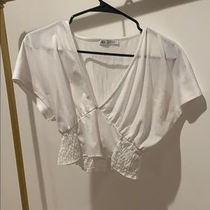 White Waist Fitted Zara Tee